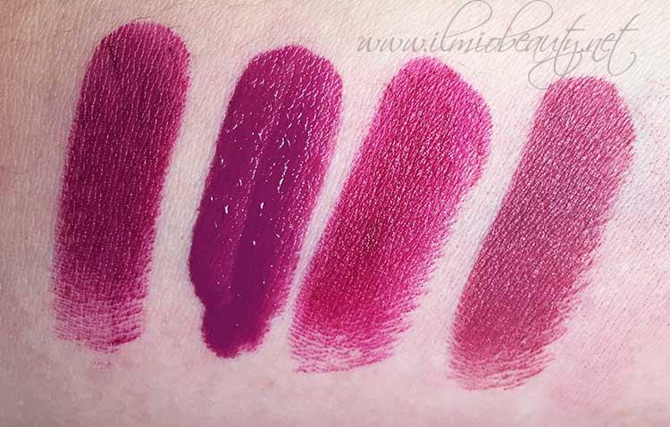 Sugar plum fairy Wet ,n wild, gloss Niyo&co, berry violet Pupa, Captive Mac