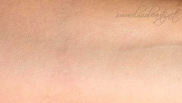 elf serum foundation - colorazione light/medium - distribuito sulla pelle