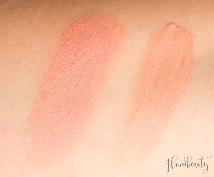da sinistra: blush in crema neve wednesday rose, terra Denise