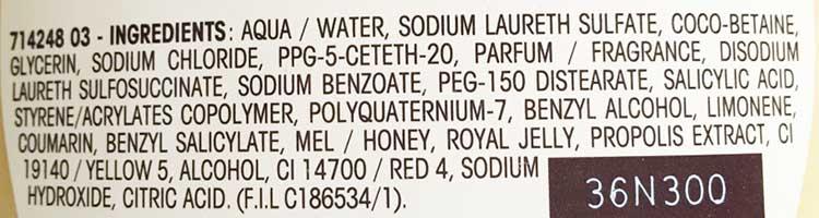 inci bagnodoccia ultradolce miele