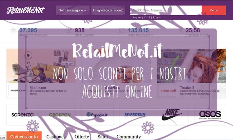 RetailMeNot.it: non solo sconti per i nostri acquisti online