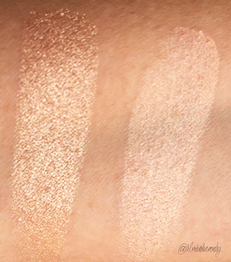 comparazione swatch illuminante nutcracker sweet copper