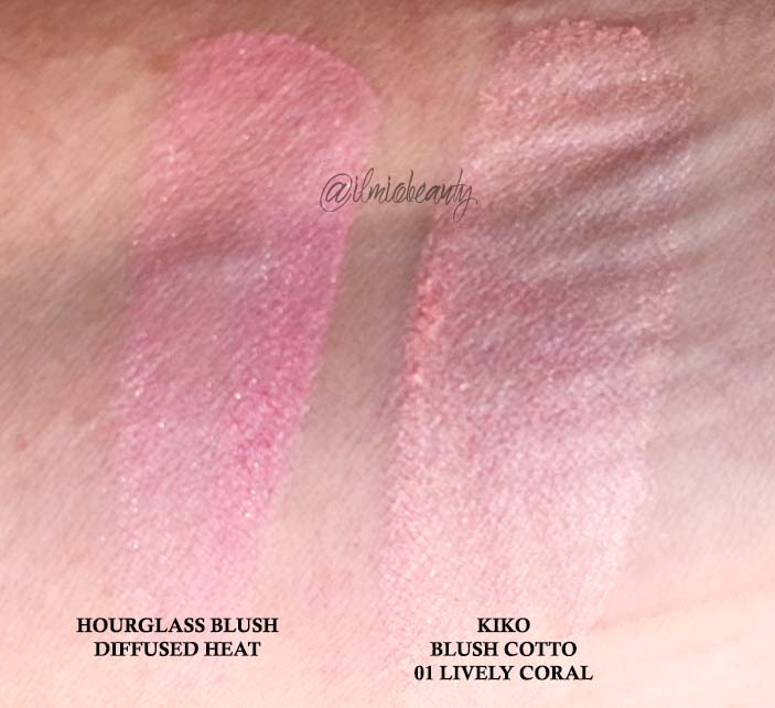 swatch comparativo blush cotto kiko