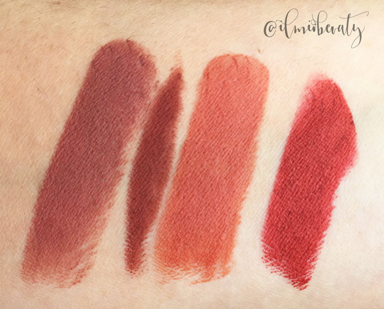 swatch comparativi rossetto Avril terre battue