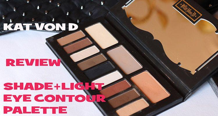 Kat Von D: Shade and light eye contour palette swatch e review