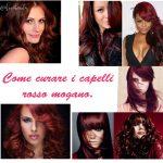 Cura capelli rosso mogano